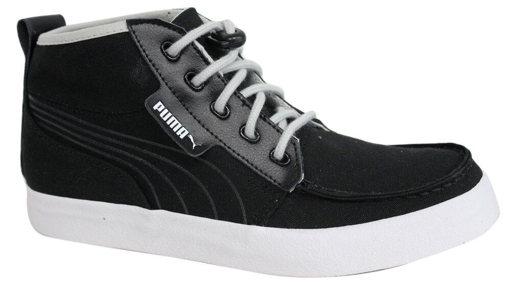 Puma Hawthorne MEDIO MAGLIA UOMO BUNGEE corda nero scarpe di tela 352971 02 P1 Scarpe classiche da uomo