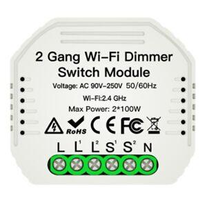 2-Gang-DIY-WiFi-Smart-2-Wege-Licht-LED-Dimmer-Modul-Schalter-Smart-Life-Tuy-O4H3
