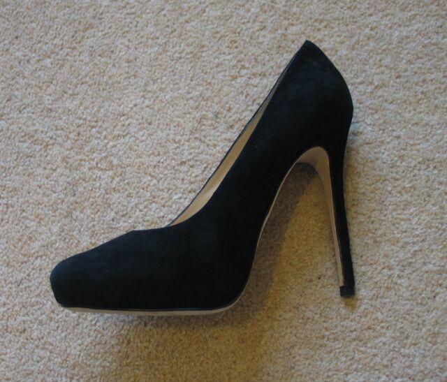 b0a7737fab1 BNWB AllSaints Cigarette Black Suede Stiletto Heels UK7.5 (fits as UK7) RRP