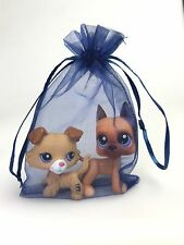 2PCS Littlest Pet Shop LPS Toys Great Dane Dog Collie Birthday Gift Bag Rare