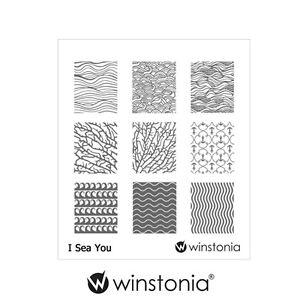 winstonia nail art stamping image plate i sea you ocean waves