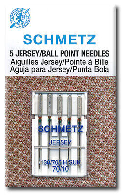 25 Schmetz Jersey Ball Point Sewing Machine Needles 130//705 H SUK Size 70//10