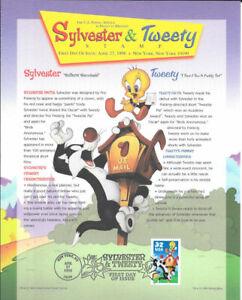 #3204a 32c Sylvester and Tweety Stamp Program Souvenir