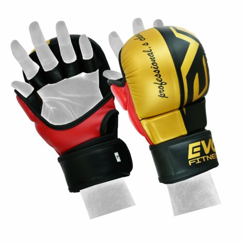 EVO MMA Gloves Kick Boxing Sparring Grappling Cage Fight Martial Arts Training