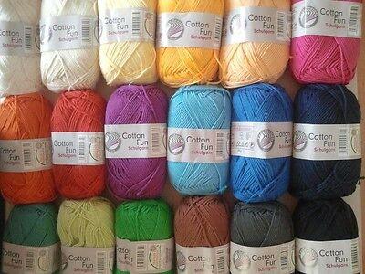 Gründl Wolle Cotton Fun 100 % Baumwolle, Schulgarn, Topflappengarn (2,78€/100g)