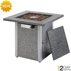 Outdoor Square Propane Fire Pit Table 28 Quot Steel 48 000