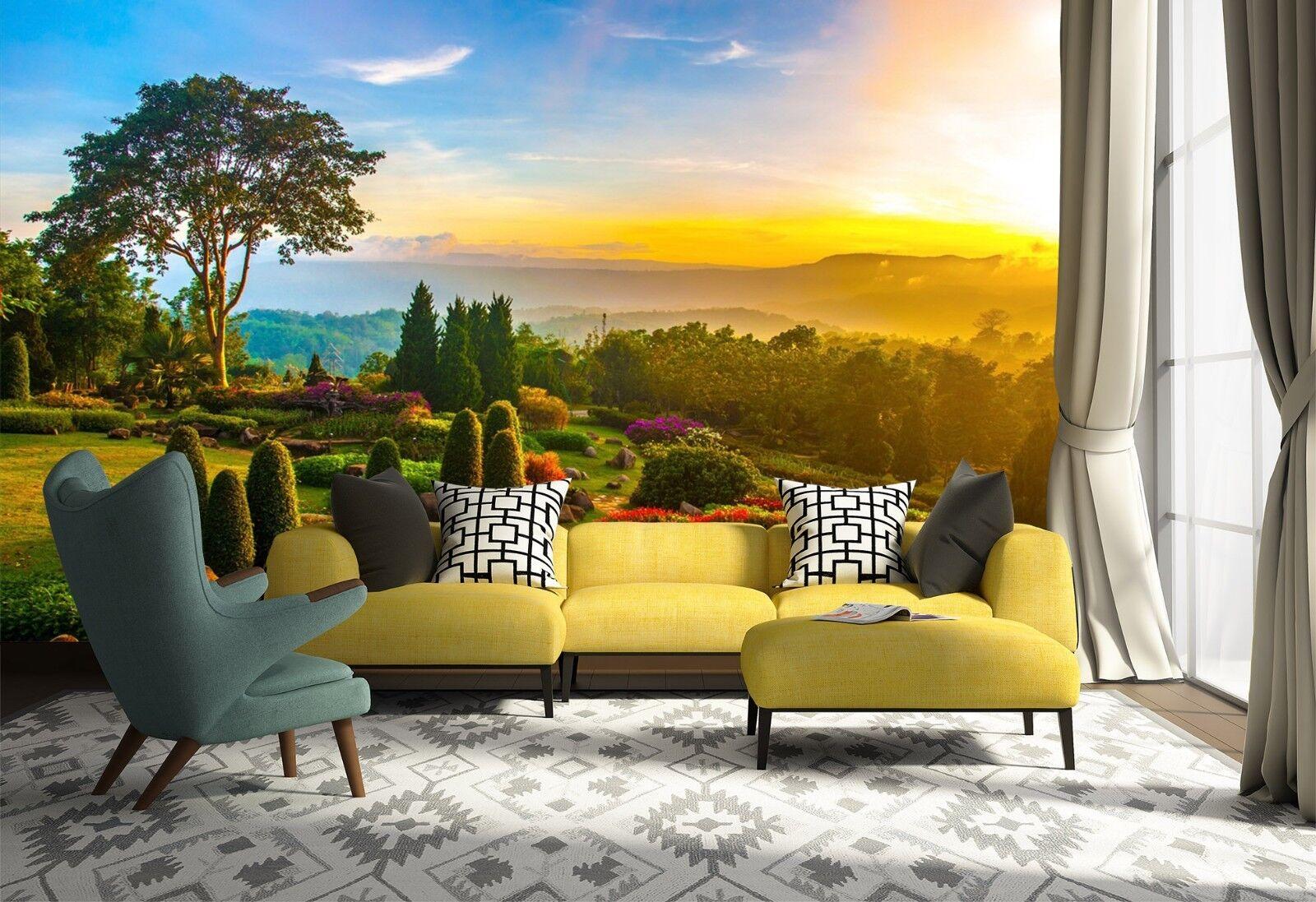 3D Landscape Tree 7086 Wallpaper Mural Wall Print Wall Wallpaper Murals US Lemon