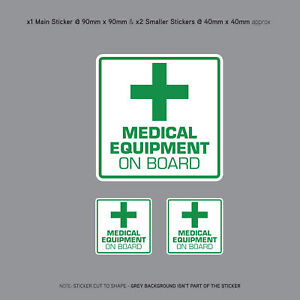 Medical-Equipment-On-Board-Vehicle-Car-Bus-Cab-Taxi-Sticker-SKU3147