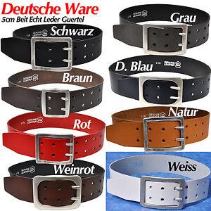 Nickel-Free-Buckle-5cm-Breit-Leder-Guertel-Buckle-Farbe-amp-Laenge-Waehlbar-Metall
