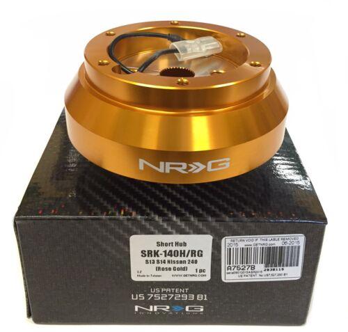 NRG SHORT HUB Steering Wheel Adaptor For Nissan S13 S14 240SX 200SX SENTRA  GOLD