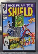 "Nick Fury Agent of SHIELD #1 Comic Book 2"" X 3"" Fridge / Locker Magnet. Marvel"