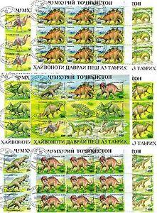 Timbres Animaux Prehistorique : 8 Blocs Timbres Du Tadjikistan / Animals Stamps ArôMe Parfumé