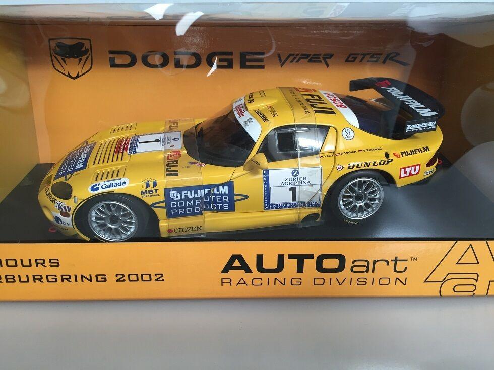 1 18 AUTOart Dodge Viper GTR S Nurburgring 24HR 2002 Zakspeed