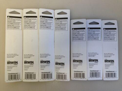 """bag150 1//2/"""" 1//8/"""" Irwin Speedbor Brad Point Drill Bits Lot of 7 NEW"""