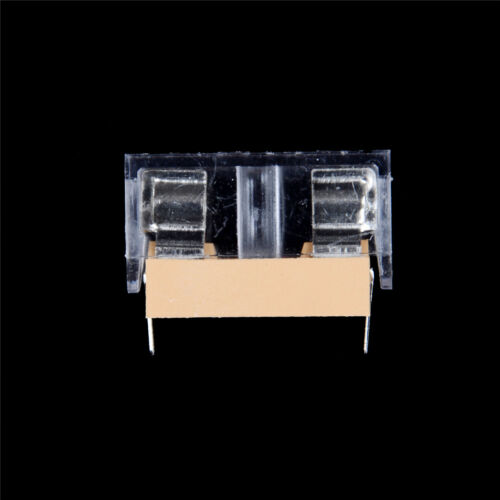 10pcs  glass fuse holder transparent holder with cover fuse Chic 5*20mm XS