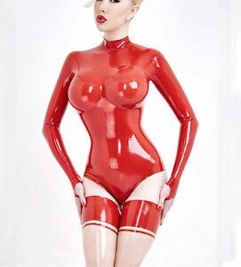184d290884 Image is loading Latex-Catsuit-Women-Rubber-Bodysuit-3D-Cut-LATEX-