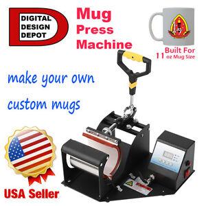Digital Controll Transfer Sublimation Mug Cup Latte Heat Press EW