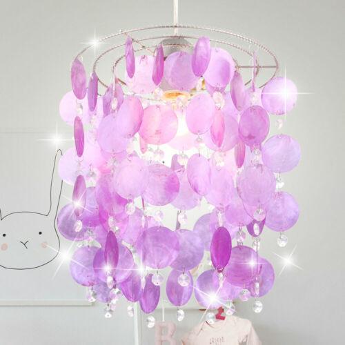 Cristal Suspension Plafonnier Lampe Coquillage Auvent Enfants Chambre Pendule de lustres Luminaire