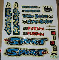 Haro Diet Sport Bmx Sticker Set - '90s Old School Freestyle Bmx Decal Set
