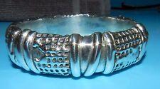 BeautifuL ISRAEL Signed SCULPTED Modernist STERLING SILVER BANGLE Bracelet