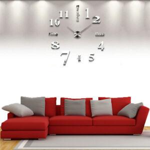 Wand Uhr Design Wohnzimmer Wandtattoo Spiegel Deko XXL 3D-Design ...