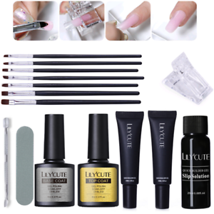 20ml Quick Poly Building Gel Nails Kits Slip Solution Brush File ...