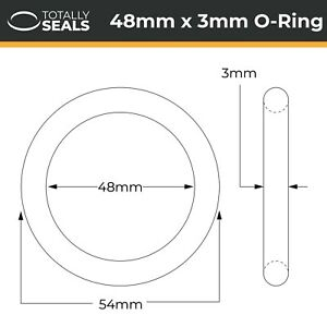 11mm x 2mm Pack of 10 15mm OD Nitrile Rubber O-Rings 70A Shore Hardness