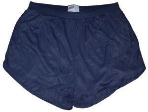 Soffe-Navy-Blue-Nylon-Ranger-Panties-Silkies-Running-Track-Short-Men-039-s-Medium