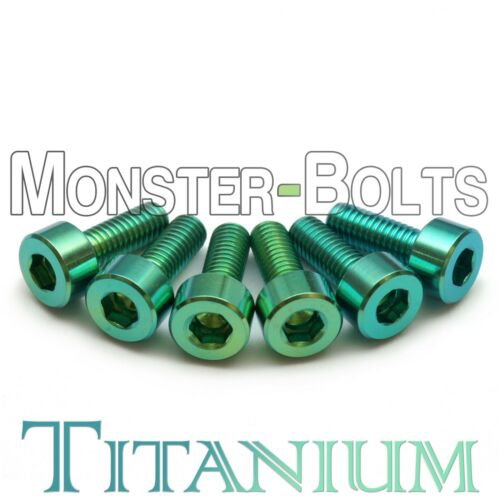 Guitar Saddle Intonation Screws Floyd Rose Tremolo Green Anodized Titanium