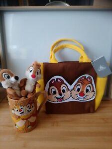 Joli lot grand mug peluches Tic et Tac + joli sac neuf Disney Store