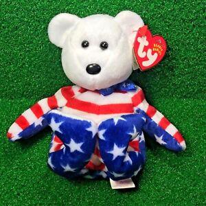 a68a7738261 La foto se está cargando Retirado-TY-Beanie-Baby-Liberty-el-oso-Blanco-