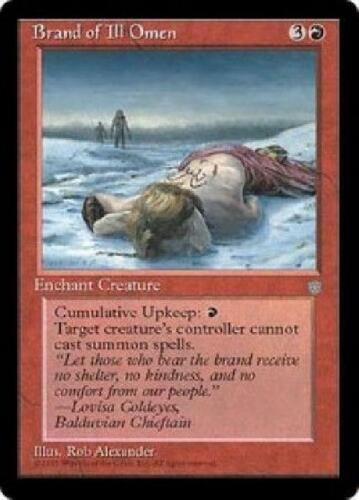 4x Brand of Ill Omen PL MTG Ice Age IA Magic Gathering
