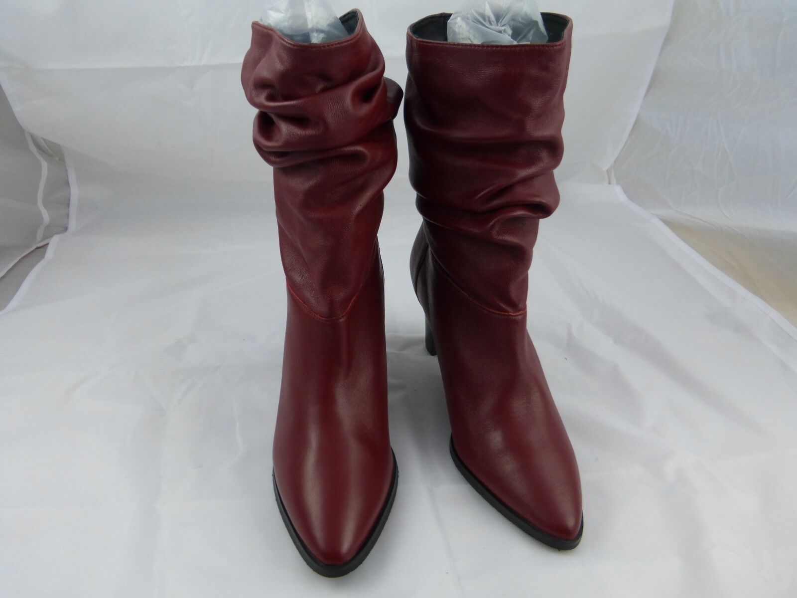 adrianna papell midcalf boots, red/rust  leather New, size 7
