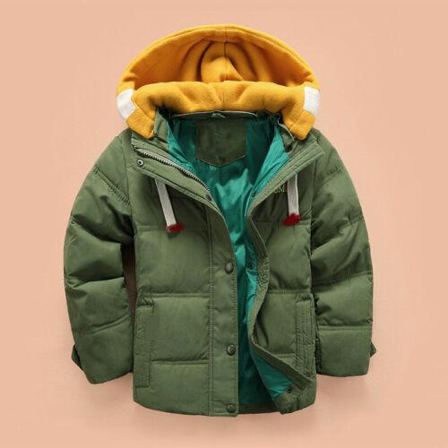 Kids Boys Winter Duck Down Coat Snowsuit Hooded Lightweight Toddler Jacket parka