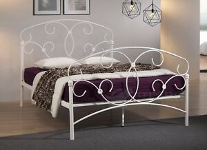 Image Is Loading Atlas Double Metal Bed Frame White Victorian Style