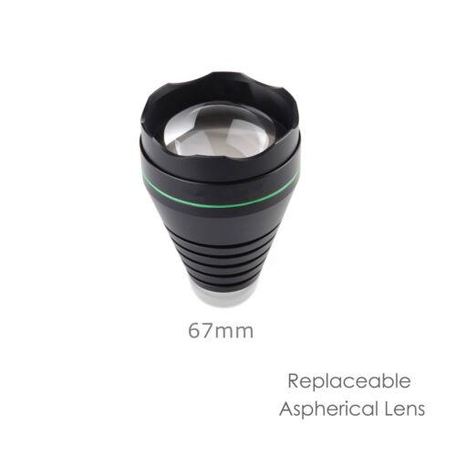 UniqueFire 1508 Head Lamp Cap Holder 38//50//67//75mm Convex Lens for Replacement