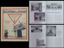 LA TECHNIQUE DES TRAVAUX n°12 1934 RABAT, LYCEE CAMILLE SEE PARIS, HAVLICEK