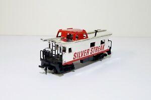 Tyco-Caboose-Silver-Streak-327-60-HO-Scale-Train-Car-Model-MIB