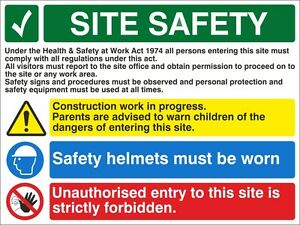 DEMOLITION IN PROGRESS A5//A4//A3 STICKER OR FOAMEX SITE SIGN SITE SAFETY