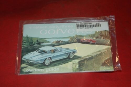 1963 OWNERS MANUAL C2 CORVETTE - OPERATIONS MANUAL - NEW - WE SHIP WORLD WIDE