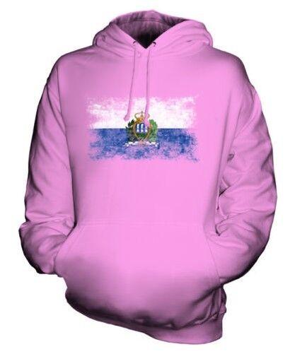 Saint-Marin Drapeau Délavé Sweat à Capuche Unisexe Haut T-Shirt Cadeau