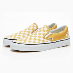 204301fd0f912c New VANS Mens Checkerboard Slip ON YELLOW   WHITE VN0A38F7QCP US M 7 ...