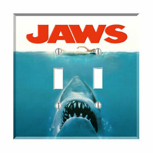 Jaws Movie Poster Light Switch Plate Wall Cover Monster ...