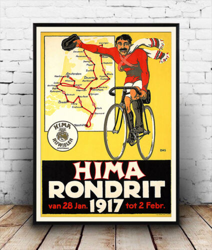 Vintage Cycling advert  poster reproduction. Hima Rondrit 1917