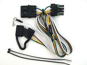 92 99 gmc yukon trailer wiring harness 4 way t connector tow hitch GMC Trailer Plug image is loading 92 99 gmc yukon trailer wiring harness 4