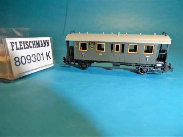 """FLEISCHMANN N 809301K DRG """"38 441 München 2/3.Kl."""" 2achs Personenwagen Ep.II"""