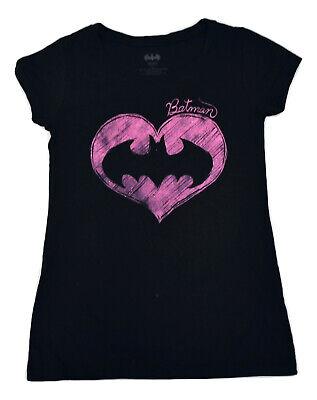2XL Batman Juniors Purple Pink Foil Logo Shirt New XL