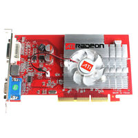 AGP ATI Radeon 9550 AGP 4X 8X 256 MB Video Graphics Card VGA Windows 7 vista XP