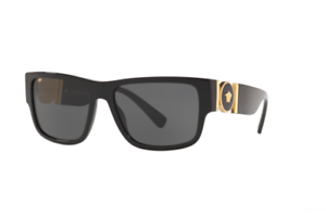 NWT Versace Sunglasses VE 4369 GB1//87 BLACK Gray 58 mm  NIB