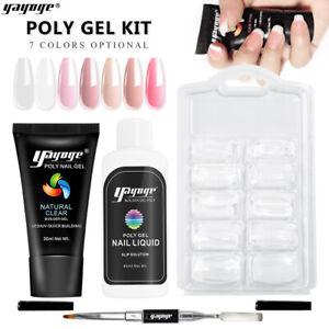 Yayoge Poly Nail Gel Quick Building UV Polish Glue Extension Builder Nail Art US